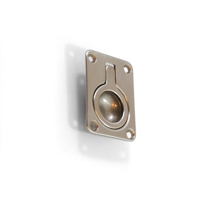 RECESSED NICKEL MAT PULL RING FOR HIDDEN DOOR